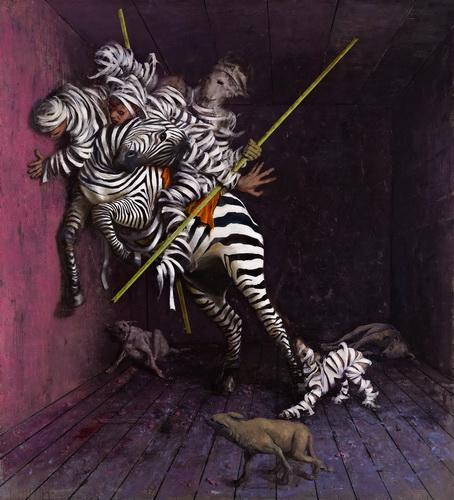 Jonas Burgert Ziergier (2012) 240 x 220 cm, Öl auf Leiwand © Jonas Burgert Courtesy Philip Beatty Foto: Matthew Hollow