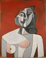 Pablo Picasso: Frauentorso, 1953. Öl auf Holz, 91,5 x 72,5. Tel Aviv Museum of Art. Nachlass von Marya Rubinstein Bernard-Adir, in Erinnerung an Dr. Bernard Bernard, 1978 © Succession Picasso / VG Bild-Kunst, Bonn 2014