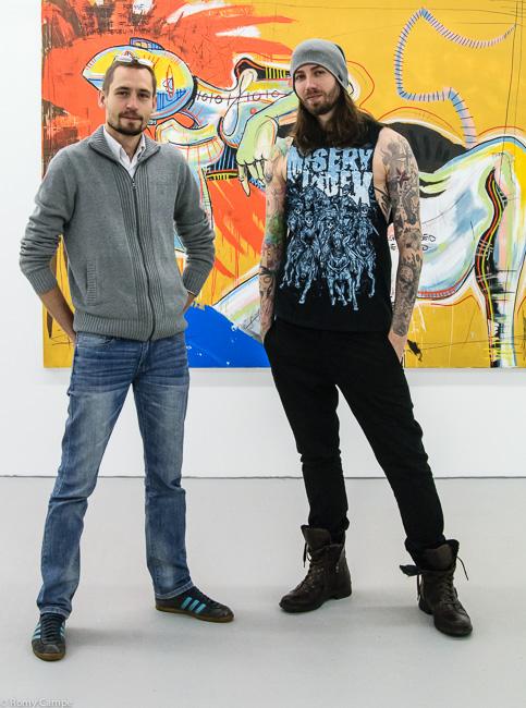 Daniel Harms und Galerist Gianni Hilgemann