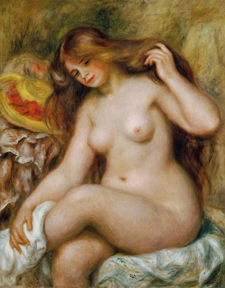 Pierre-Auguste Renoir: Badende mit blondem, offenen Haar, um 1903. Öl auf Leinwand, 92,7 x 73,4 cm. Österreichische Galerie Belvedere, Wien. © Belvedere, Wien