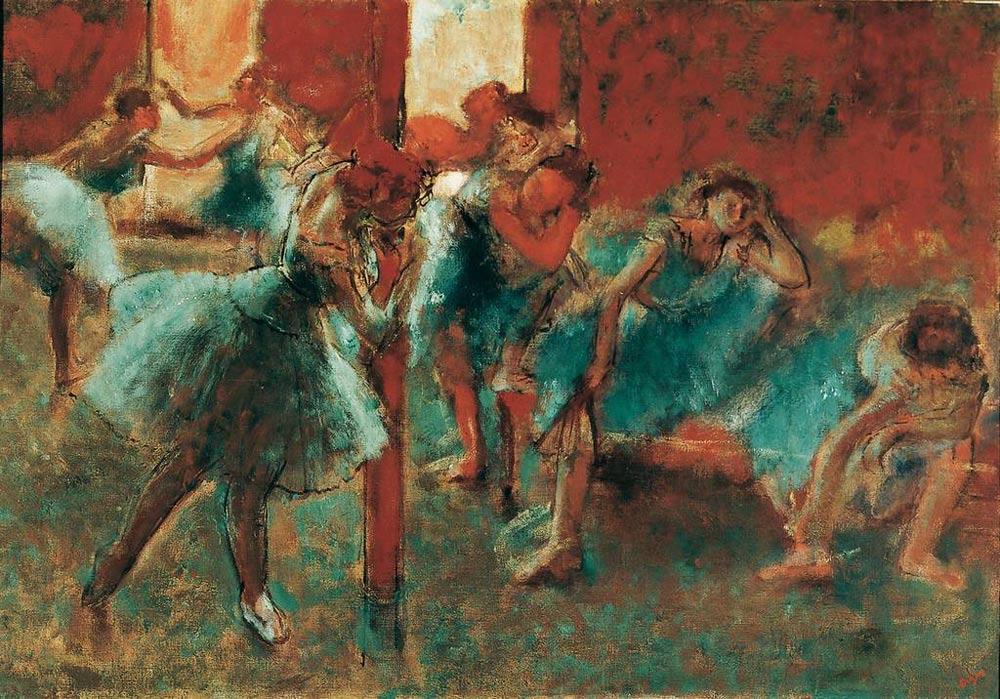 Edgar Degas: Tänzerinnen im Probensaal, um 1891. Öl auf Leinwand, 70,5 x 100,5 cm. © Von der Heydt-Museum Wuppertal