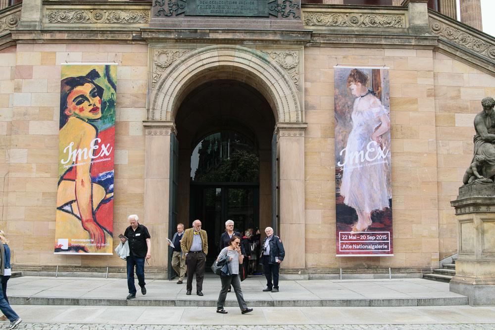 ImEx - Eingang zur Alten Nationalgalerie