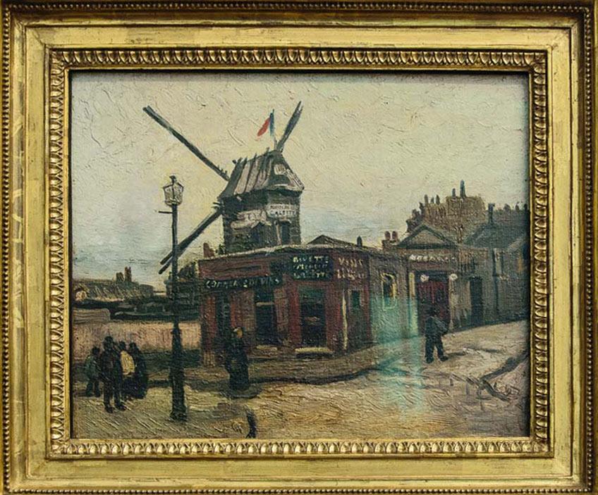 ImEx - Vincent van Gogh - Le Moulin de la Galette, 1886 Öl auf Leinwand, 89,5 x 46,2 cm