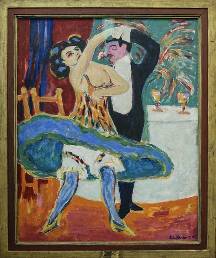 ImEx - Ernst Ludwig Kirchner - Varieté (Englisches Tanzpaar), 1910/1926 Öl auf Leinwand, 151 x 120 cm