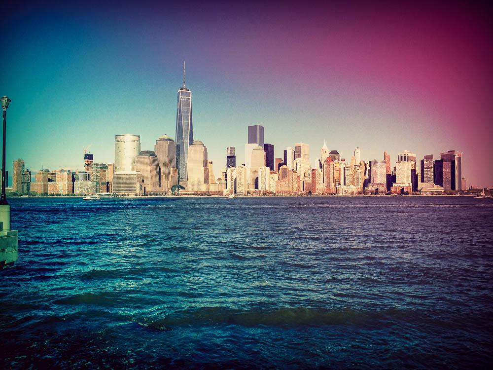 Der erste Ausblick auf die Skyline von Manhattan verschlug uns die Sprache.