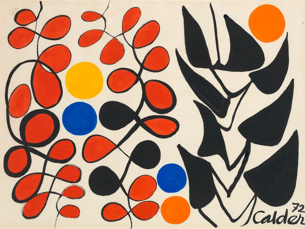Alexander Calder Untitled (1972), 1972 Gouache und Tusche auf Papier 58,4 x 77,4 cm