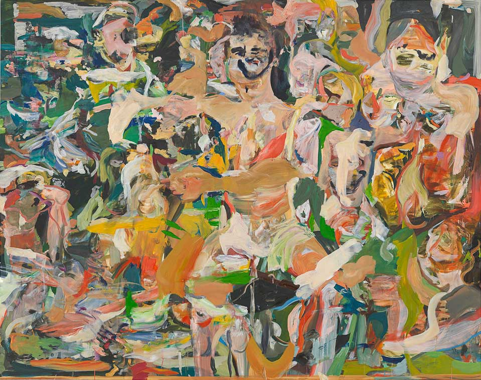 """CEB/M 85/00  Cecily Brown   """"Thug in Landscape"""", 2014 - 2015 Öl auf Leinen 196 x 246 cm / 77 1/4 x 96 3/4 in Photographer: Genevieve Hanson"""