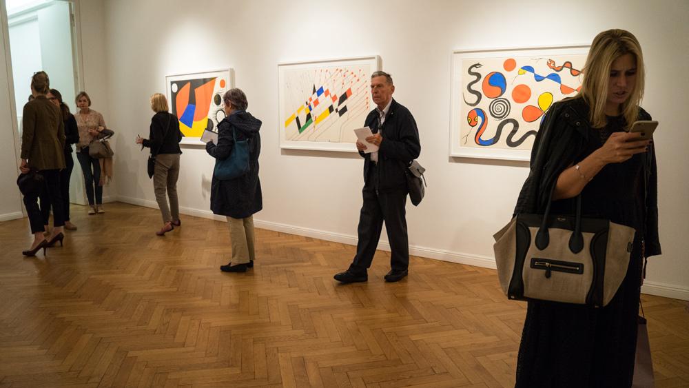 Alexander Calder in der Galerie Michael Haas