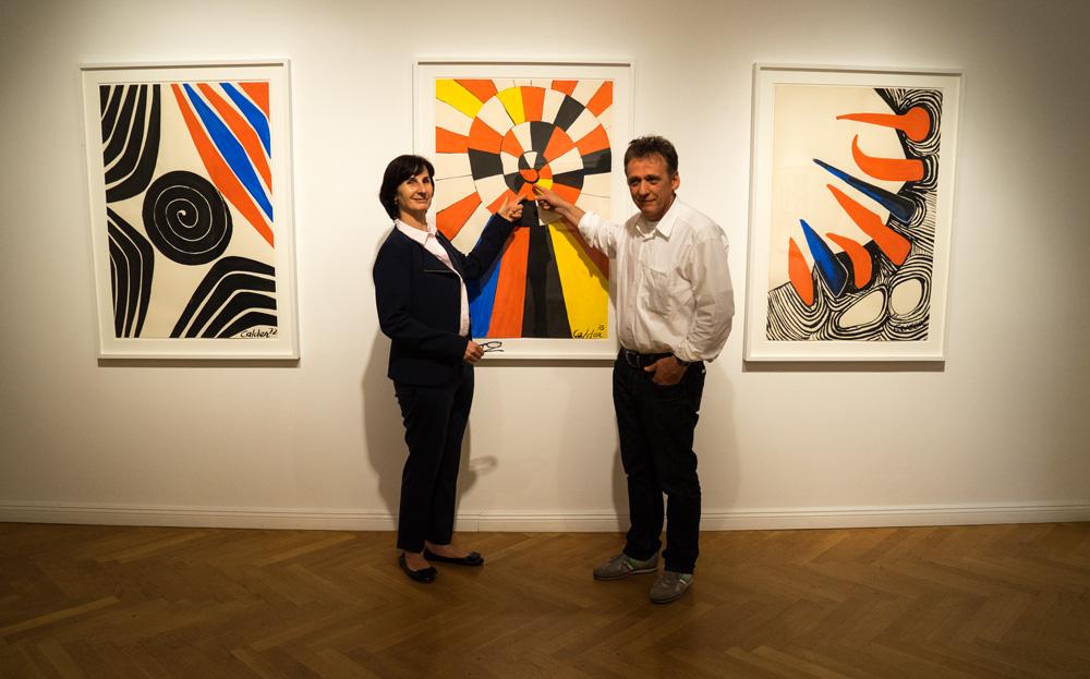 Frau und Herr Haas in der Galerie Michael Haas