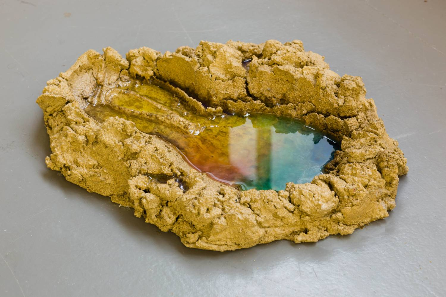 Samara Scott, Cough,2013, Dyed concrete, resin, shampoo - I Was Once Lonelyness, BlainSouthern