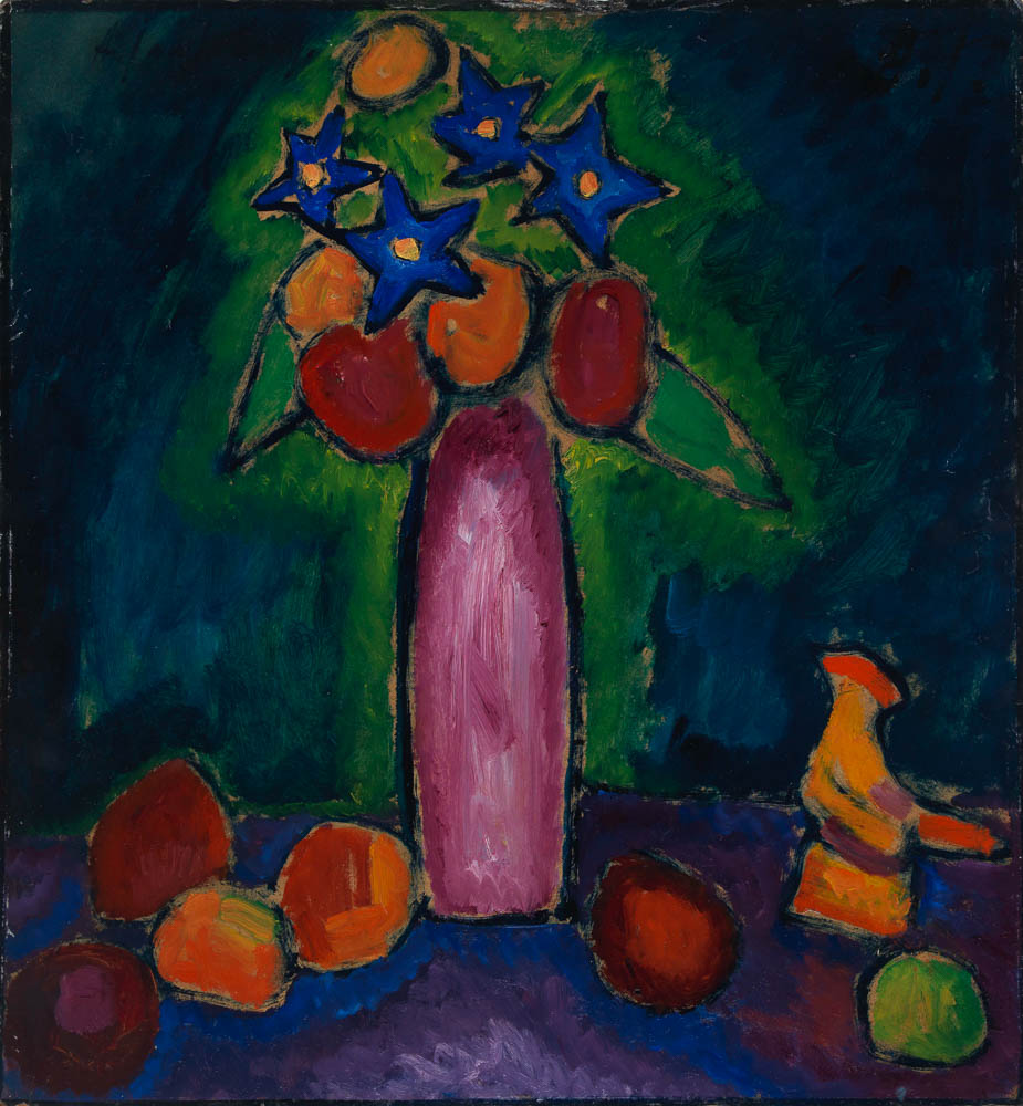 Jawlensky-Stilleben mit Gockel, 1910, Galerie Michael Haas, Stillleben gestern und heute