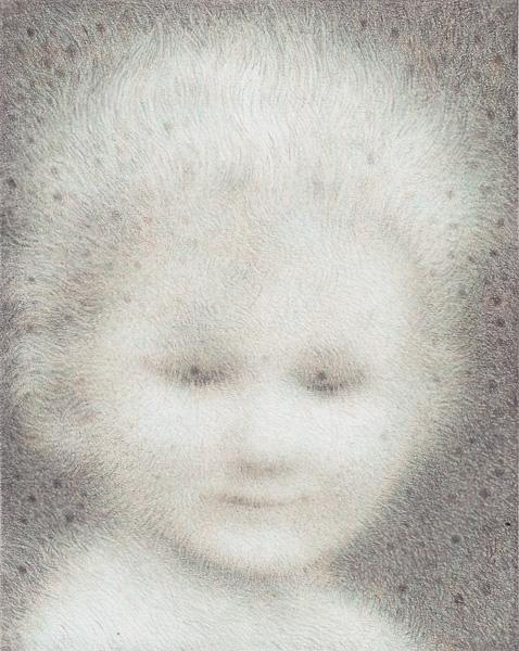 Halbschlaf Farbstift auf Papier, 17,5 cm x 14,0 cm (2014)