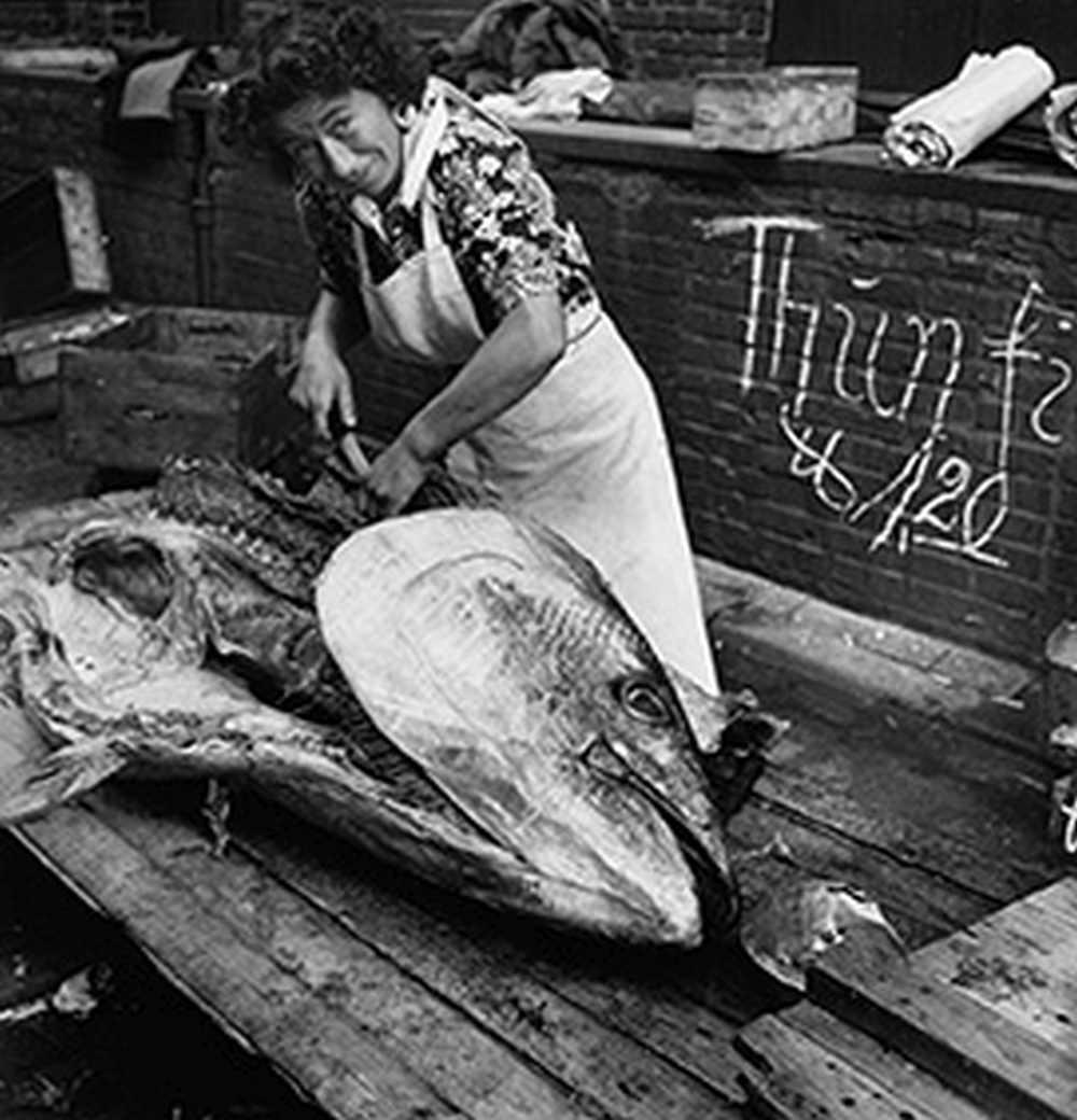 Fischmakt X, Herbert Dombrowski, Jedes Bild ist mir begegnet, Galerie Hilaneh von Kories