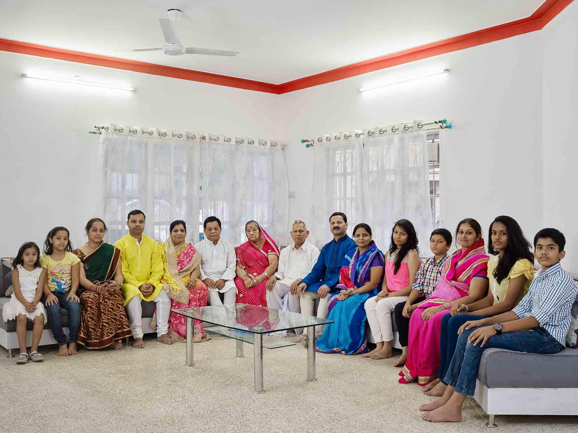Nora Bibel, Mehta, Bangalore, Indien, 2015. Aus der Serie Family Comes First