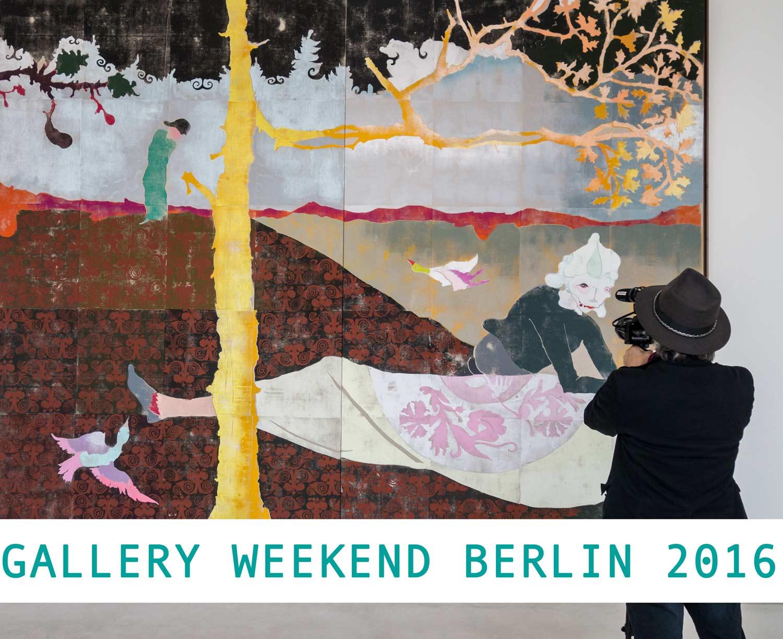 Gallery Weekend Berlin 2016, Gerd und Uwe Tobias bei cfa