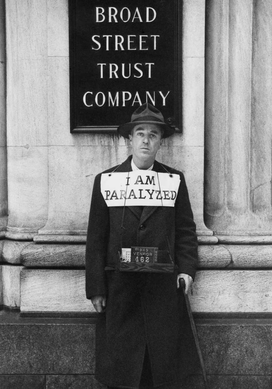 "© Estate of Louis Faurer, ""I AM PARALYZED"", Philadelphia, 1949"