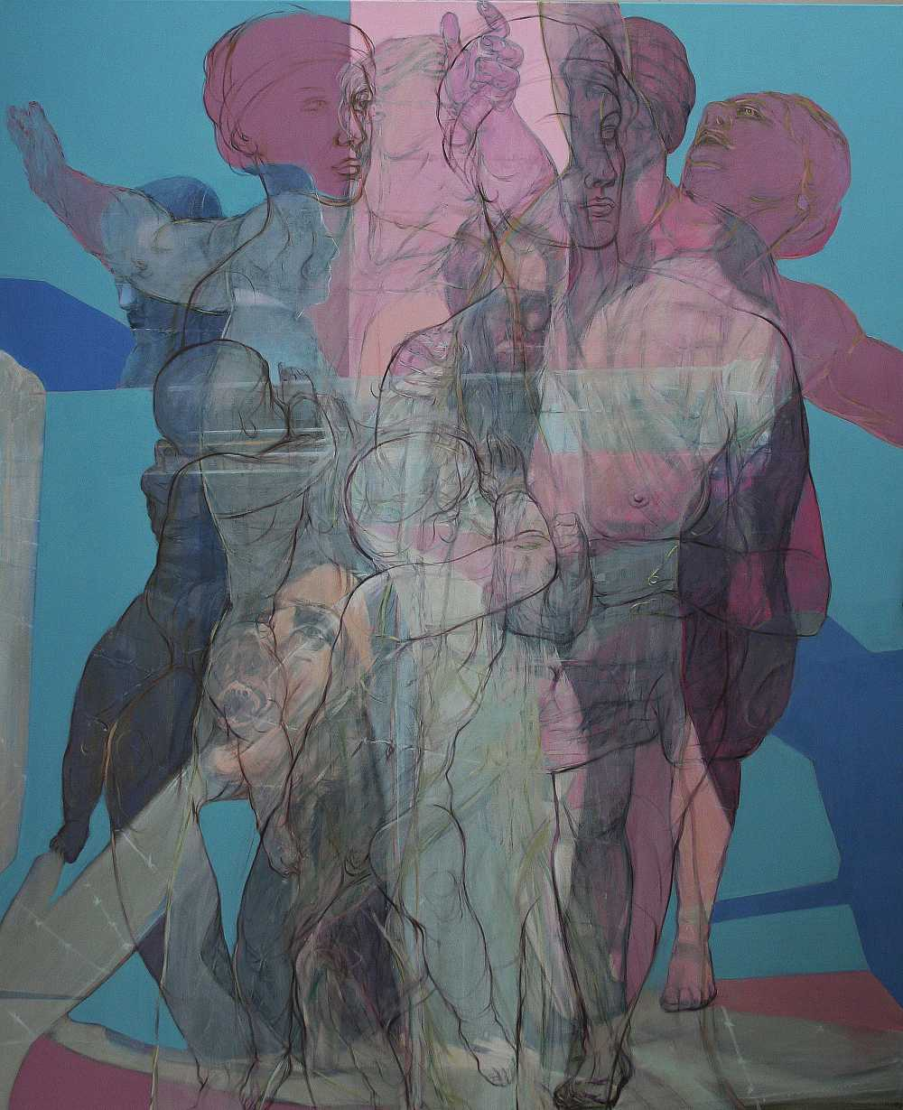 Flucht (Medea), Oil on linen, 220 x 180 cm, 2016, Antike Dispositionen, artfein GALLERY, Henri Deparade