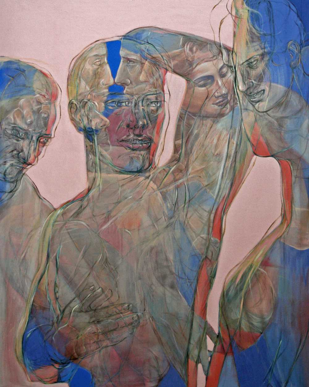 Narziss, 2016, Oil on linen, 150 x 120 cm, Antike Dispositionen, artfein GALLERY, Henri Deparade