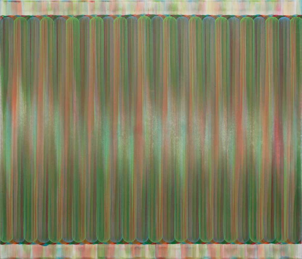 Bernhard Paul, interlude JC-02, 2016, Acryl auf Leinwand, 90 x 105 cm