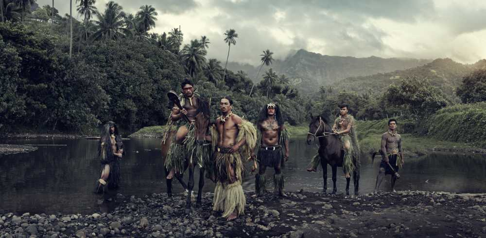 © JIMMY NELSON, VAIOA RIVER, ATUONA, HIVA OA, MARQUESAS ISLANDS, FRENCH POLYNESIA, 2016
