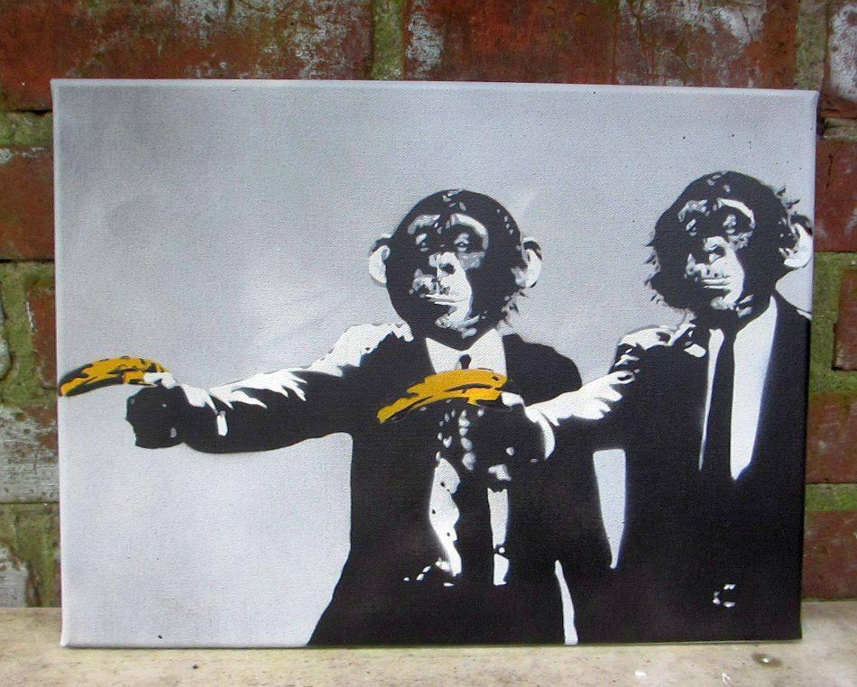 """""""Monkey Fiction"""", Leinwand, 40x30 cm"""