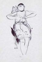 Jeanne Mammen, Rosa Valetti, um 1929, Feder, 22,5 × 16,5 cm