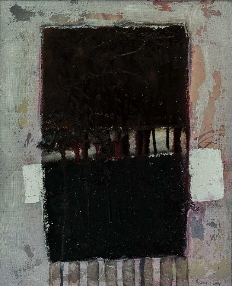"MASCH ""The Twin Experience"", 60x50 cm, Mischtechnik auf Leinwand"