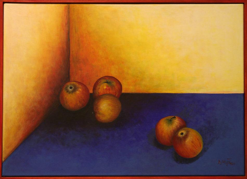 """Bildtitel: """"Ernte"""" Acryl auf Leinwand, 2004 60 x 50 cm"""