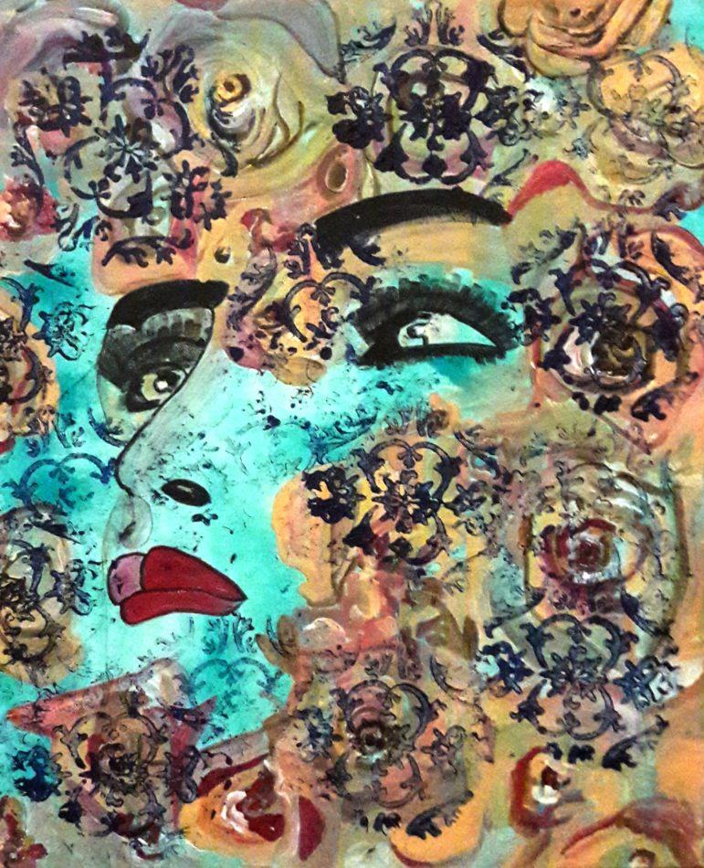 Kate / Acryl auf Leinwand 50 x 60 cm Werk -Nr. 2064. entstanden in 2016.