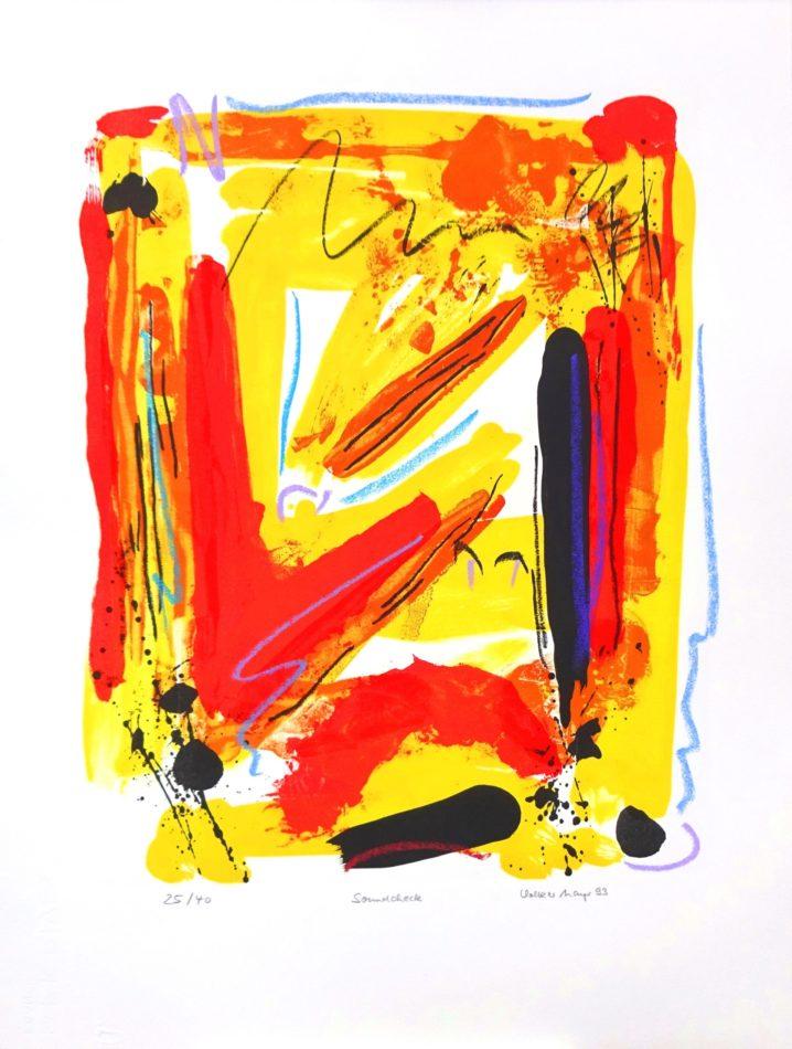 """Original-Farblithographie """"Soundcheck"""" auf Bütten 50 x 66 cm, Auflage 40 Exemplare"""