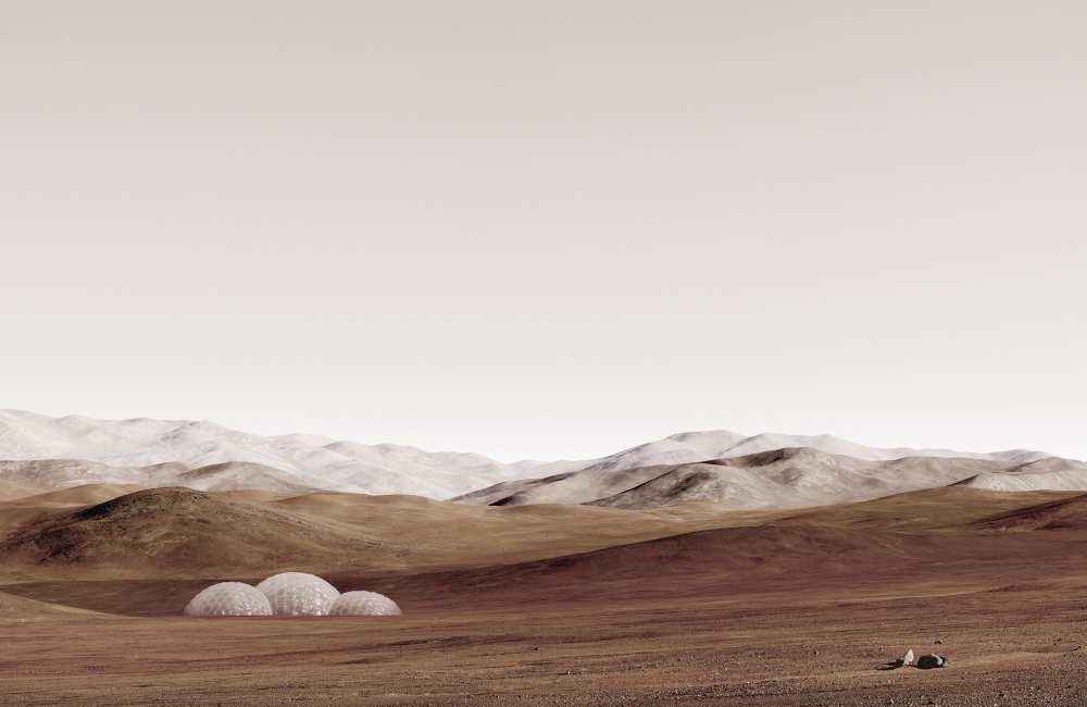 "Michael Najjar, ""sands of mars"", 2014, hybrid photography, archival pigment print, diasec, custommade aluminium frame, © Michael Najjar, Courtesy the artist"