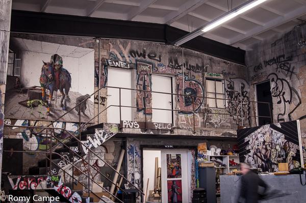 Das Atelier von Jonas Burgert