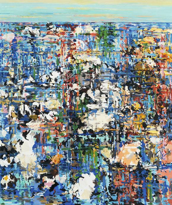 Uwe Kowski, treiben, 2014, Öl auf Leinwand, 195 x 165 cm, Foto: Uwe Walter, Berlin