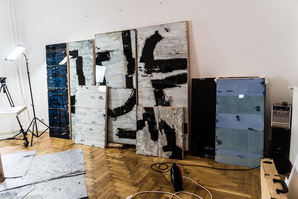 Pal Stock in seinem Berliner Atelier