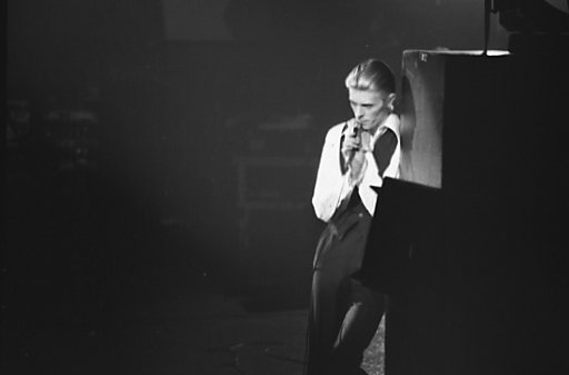 Bowie 1976 als Thin White Duke