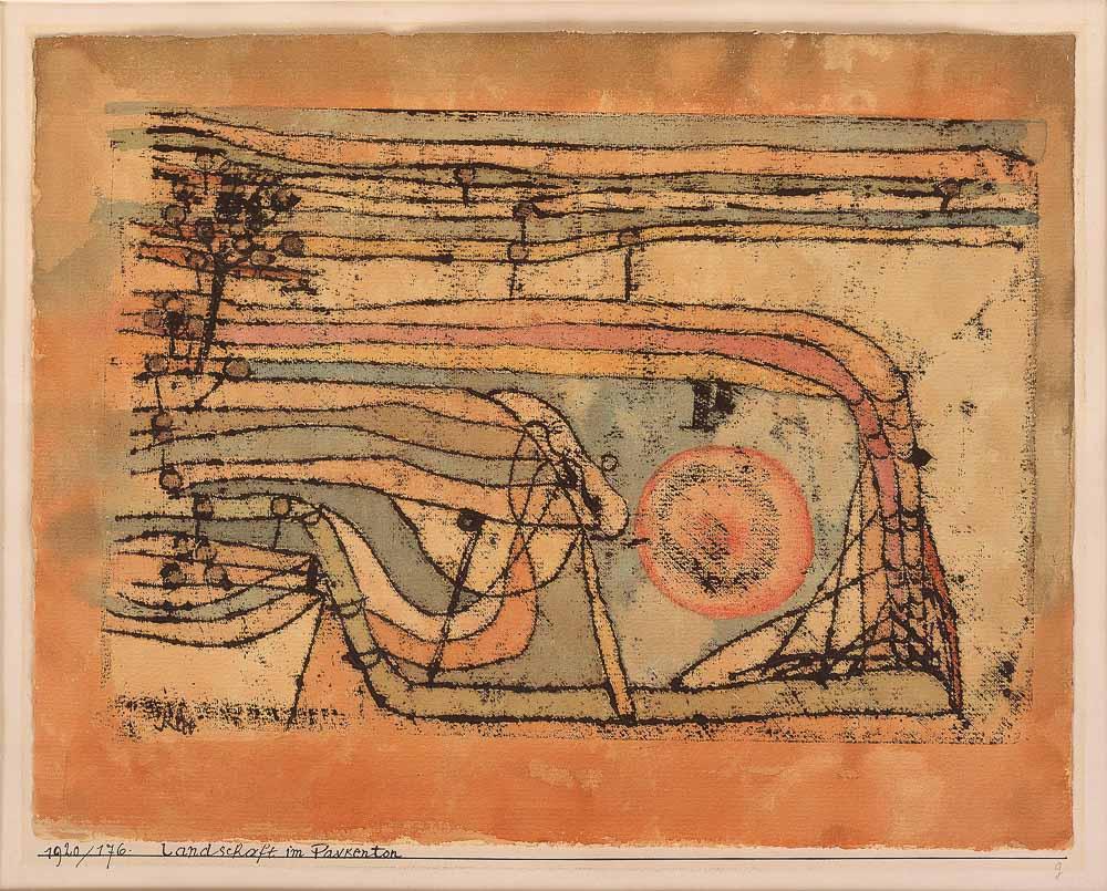 Paul Klee: Landschaft im Paukenton, 1920, Staatliche Museen zu Berlin, Nationalgalerie, Museum Be