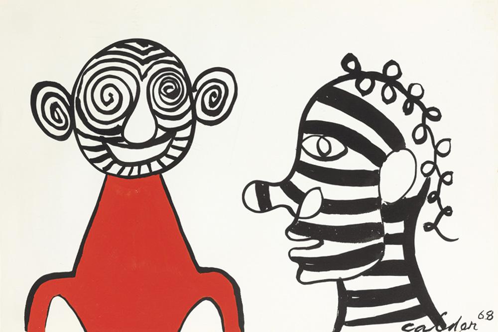 Alexander Calder The Meeting, 1968 Gouache und Tusche auf Papier 38,8 x 58,4 cm