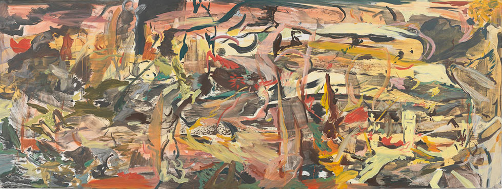 "CEB/M 82/00 Cecily Brown ""Sunset Motel"", 2015 Öl auf Leinen 104 x 277 cm / 41 x 109 in Photographer: Genevieve Hanson"