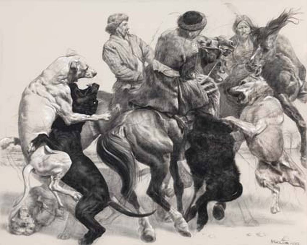 David Nicholson, Afghan Dog Fight, Otto Dix & David Nicholson, Kunst Lager Haas