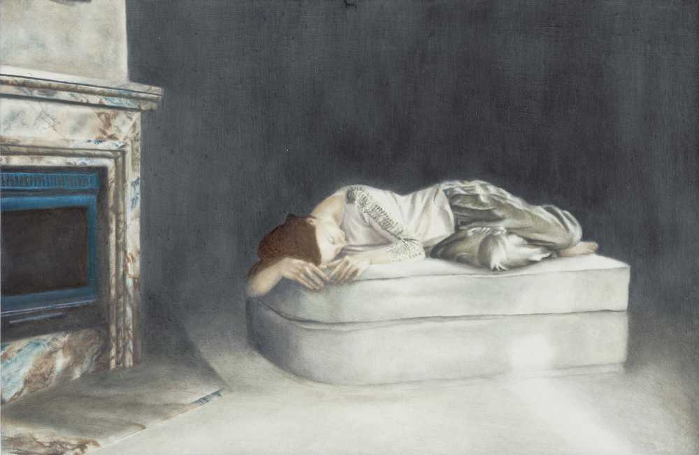 Emma Parc, o.T. (21), 2014, Öl auf Aludibond, 10 x 15 cm, Galerie Schwind