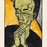 Erich Heckel, 'Männerbildnis', 1918 Farbholzschnitt