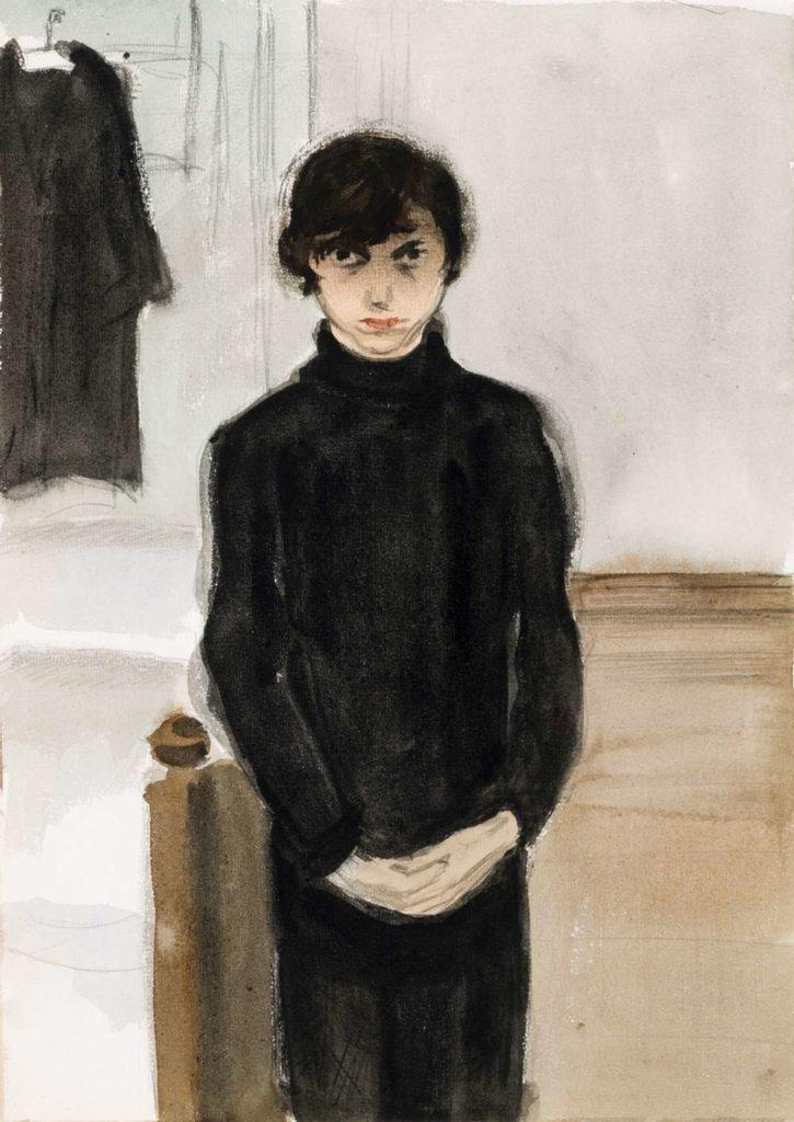 Jeanne Mammen, o. T. (Selbstbildnis), o. D. (um 1926), Förderverein der Jeanne-Mammen-Stiftung e.V., © VG Bild-Kunst, Bonn 2017, Foto: © Mathias Schormann