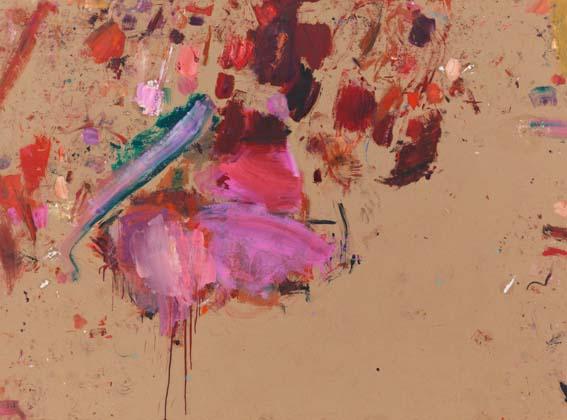 Martha Jungwirth, Ohne Titel (aus der Serie Fundraising), 2013, Öl auf Papier, auf Leinwand kaschiert, 142 x 196,5 cm
