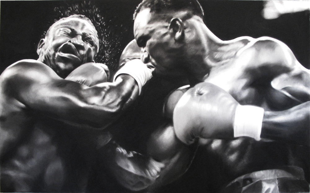 Robert Longo Untitled (Boxers), 2012 Kohle auf Papier 152,4 x 248,9 cm RLO 1209