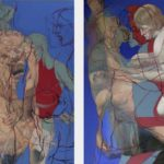 Marsyas Diptychon, 2014, Oil on linen, 180 cm x 280 cm, Antike Dispositionen, artfein GALLERY, Henri Deparade