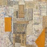 Tagebücher 4, 2016 Leinwand, Papier, Stifte, 100 x 70 cm © Martin Rupprecht