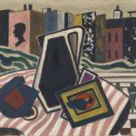 Werner Heldt, Stilleben auf dem Balkon, 1950, Gemälde und Zeichnungen, Galerie Michael Haas