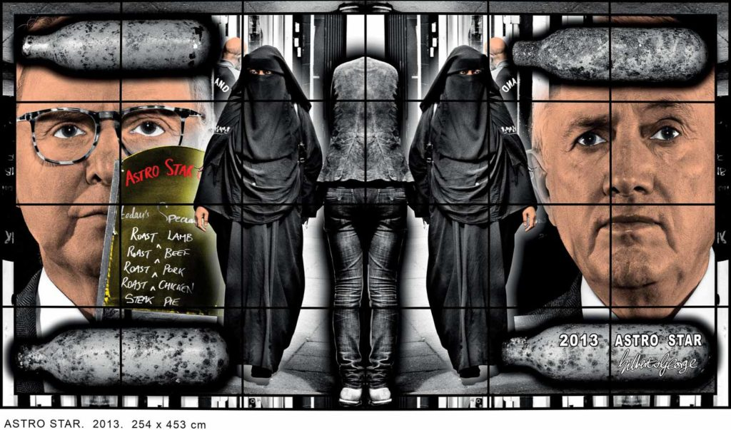 """Gilbert & George: ASTRO STAR 2013, Series """"SCAPEGOATING PICTURES"""" © Gilbert & George"""