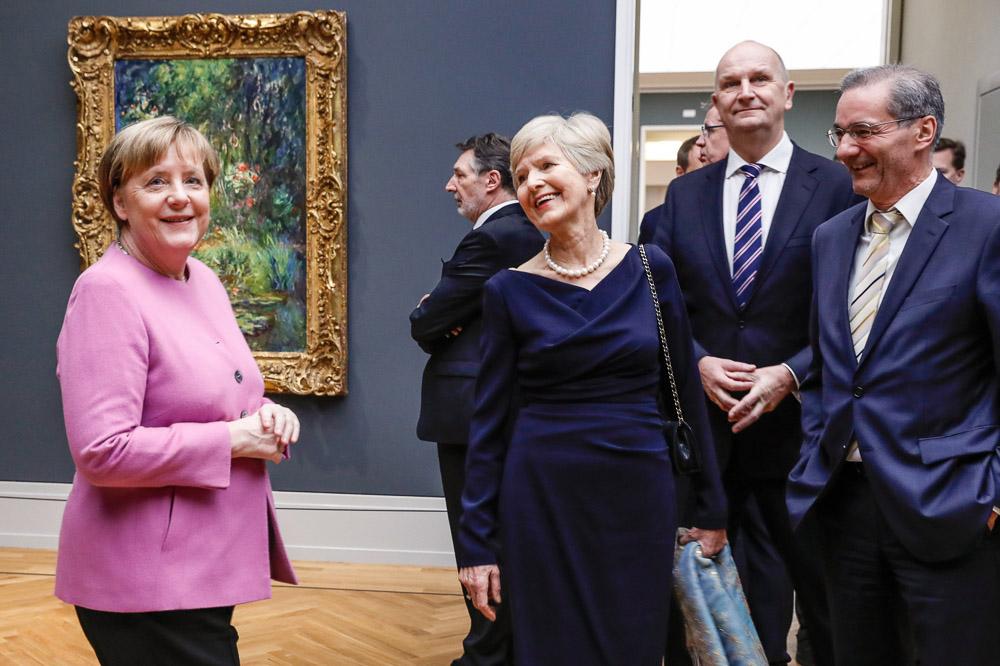 Angela Merkel, Jann Jakobs, Friede Springer, Dietmar Woidke und Matthias Platzeck