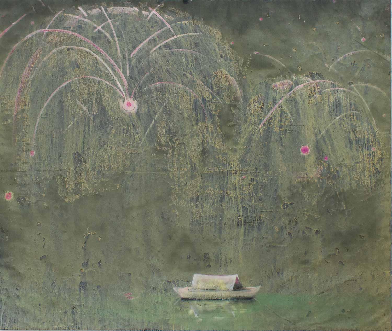"""Goldregen"" von Becker Schmitz, Koeppe Contemporary, Kunstleben Berlin"